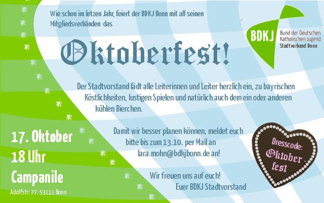 bdkj-oktoberfest 2015 | bund der deutschen katholischen jugend, Einladung